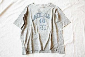 americana アメリカーナ REVERSE WEAVE S/S TEE(8 STATE) col/TPO GRY