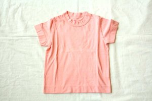 ■ homspun ホームスパン 30/-天竺 KID'S 半袖Tシャツ col/ピンク