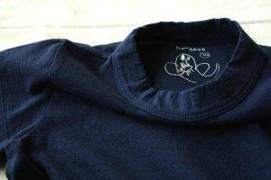 ■ homspun ホームスパン 30/-天竺 KID'S 半袖Tシャツ col/TOPネイビー