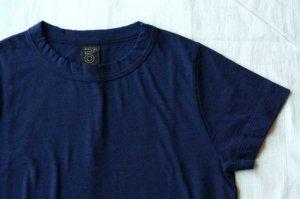■homspun ホームスパン 30/-天竺 半袖Tシャツ col/ TOPネイビー