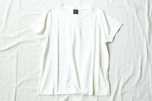 ■homspun ホームスパン 30/-天竺 半袖Tシャツ col/ サラシ