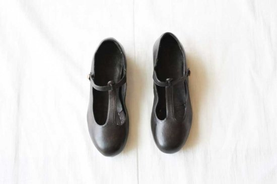 ■CHRISTIAN PEAU クリスチャンポー CP-T-STRAP VCW LEATHER SHOES col/ GRAPHITE GREY