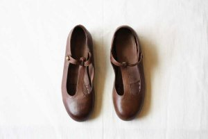 [フォーマル]■CHRISTIAN PEAU クリスチャンポー CP-T-STRAP VCW LEATHER SHOES col/ L..CINNAMON