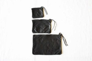 ■CHRISTIAN PEAU クリスチャンポー SQUER-POUCH 3SET ポーチ col/ GRAPHITE GREY