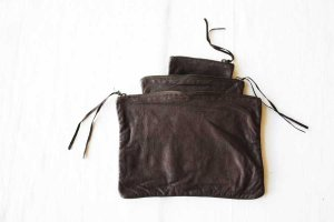 ■CHRISTIAN PEAU クリスチャンポー SQUER-POUCH 3SET ポーチ col/ D.BROWN