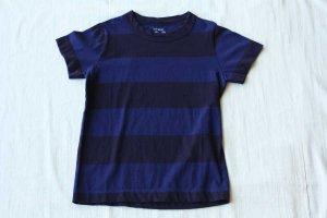 ■homspun ホームスパン 30/- 天竺太ボーダー KID'S 半袖 Tシャツ col/  ネイビー×ブルー