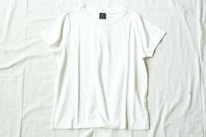 ■homspun ホームスパン 30/天竺 半袖Tシャツ  col/  サラシ