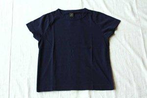 ■homspun ホームスパン 30/天竺 半袖Tシャツ  col/  ネイビー