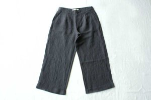 evam eva エヴァム エヴァ  linen bamboo wide pants  col / north sea