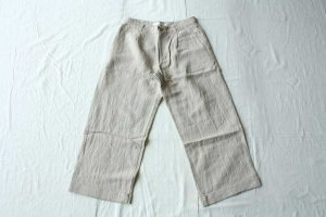 evam eva エヴァム エヴァ  linen bamboo wide pants  col / grege