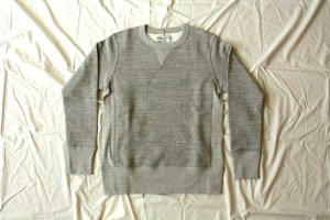 Americana アメリカーナ CREW NECK RIVERSE WEAVE SWEAT col. TOP GRY