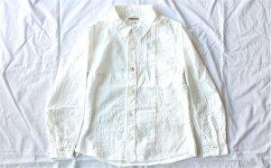 ■ kapital キャピタル KID'S ホワイトパッチワーク カトマンズシャツ