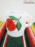 キッチンウェア古着雑貨 ターモクリサTermocrisa 1980s スタッキングマグ フルーツプリント 赤