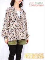 レディースシャツ古着ペンドルトンPENDLETON 手書き風メニュー総柄オープンカラーシャツUSA製