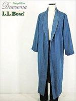 古着 ガウン 90s L.L Bean ビーン 人気 デニム ショール カラー ガウン (コート) XL位 美品!! 古着