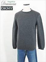 古着 ニット DKNY ダナキャラン ロールネック デザイン コットン ニット セーター M 美品!! 古着