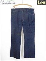 「フラッシャー付 Deadstock」 古着 80s USA製 Lee 411-0241 濃紺 インディゴ 5ポケット デニム パンツ ジーンズ フレア W38 L31 美品!! 古着
