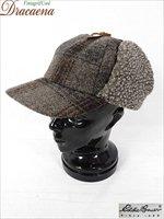 古着 帽子 USA製 EddieBauer エディーバウアー ボア 耳あて 2way チェック ウール ナイロン ボンバー キャップ XL 古着