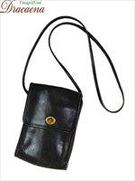 古着 バッグ USA製 OLD COACH コーチ 本革 レザー フラップ ショルダー バッグ 縦型 小型 黒 ブランド 雑貨 古着