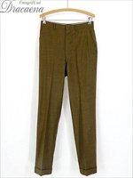 古着 パンツ 60s PERMANENTLY ライト ウール スラックス パンツ ノータック スリム W30 L31 古着