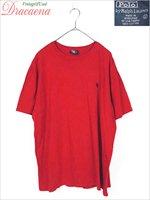 レディースTシャツ古着 POLO by RalphLauren ポロ ラルフローレン シンプル 無地 ポニー刺繍 赤 半袖 クルー Tシャツ L ビッグサイズ