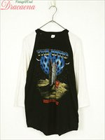 レディースカットソー古着 80s THE WHO ロック バンド 「American tour '92」 ツアー ラグラン Tシャツ ロックT