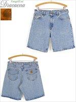 古着 ショーツ 80-90s Carhartt カーハート 色落ち デニム ワーク ショーツ ショート パンツ W33 古着