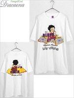 古着 Tシャツ 90s USA製 BETTY BOOP 「BINGO Betty」 両面 ベティーちゃん オールド キャラクター Tシャツ XL 古着