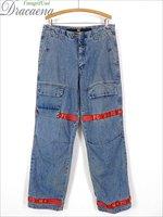 古着 パンツ 90s MARITHE FRANCOIS GIRBAUD ジルボー デザイン ボンテージ デニム パンツ ジーンズ W34 L33 ブランド 古着