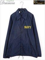 古着 ジャケット 70s USA製 ランタグ Champion 「NAVY」 オールド ミリタリー ナイロン コーチ ジャケット M 古着