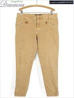 「未使用」 古着 パンツ Ralph Lauren Jeans ラルフ ストレッチ コットン ツイル ジョッキー ジョッパー パンツ スリム W34 L28 古着