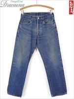 古着 パンツ 80s USA製 Levi's 501 「care入り」 内股シングル 色落ち インディゴ デニム パンツ ジーンズ ストレート W31 L30 古着