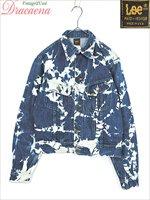 レディースジャケット古着 USA製 Lee リー カジュアル ブリーチ 青 ポケット 長袖 デニム ジャケット