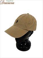 古着 帽子 Polo Ralph Lauren ラルフ ポニー ワンポイント 刺しゅう 6パネル コットン キャップ ベージュ Free 雑貨 古着