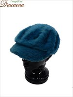古着 帽子 KANGOL カンゴール もこもこ アンゴラ ファー キャスケット キャップ ハット ターコイズ L/XL 美品!! ブランド 雑貨 古着