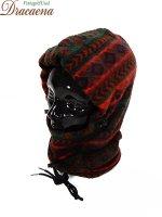古着 帽子 CANADA製 ネイティブ 民族 フリース キャップ 目出し帽 ネック ウォーマー Free 雑貨 古着