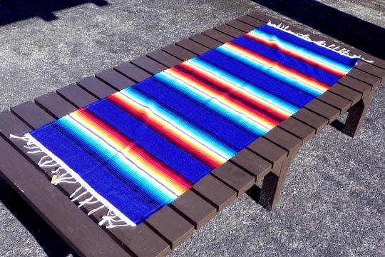 メキシコ サラペ ネイビー インテリア メキシカン ラグ 紺 テーブルランナー