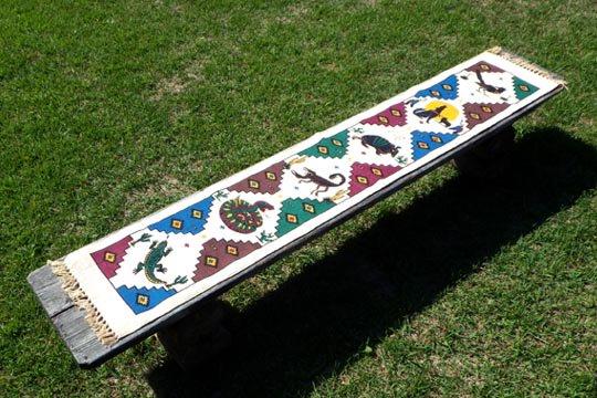 サウスウエスタン ネイティブ 荒野 アニマル デザイン インテリア コットン テーブルランナー