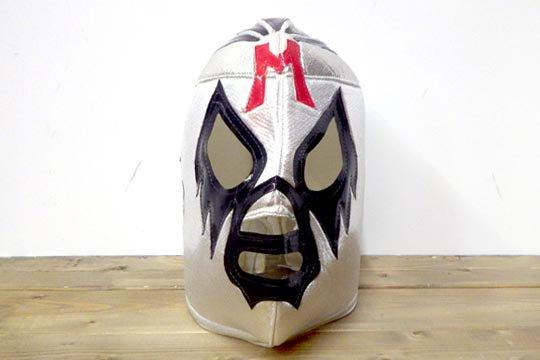 メキシコ プロレス ルチャリブレ 応援用 マスク ミル・マスカラス シルバー