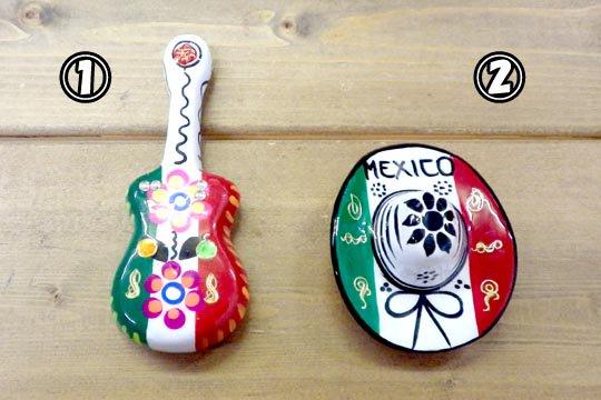 メキシコ セラミック 陶器 磁石 マグネット メキシカン ソンブレロ ギター