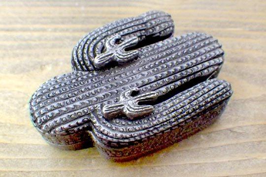 サボテン カクタス ビンテージ アクセサリー ケース ピアス ネックレス ブローチ 三種セット
