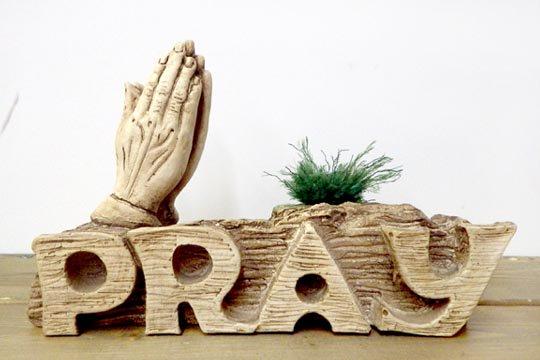 プレイハンド 祈りの手 インテリア 置物 ハンドメイド ビンテージ ウッド カービング