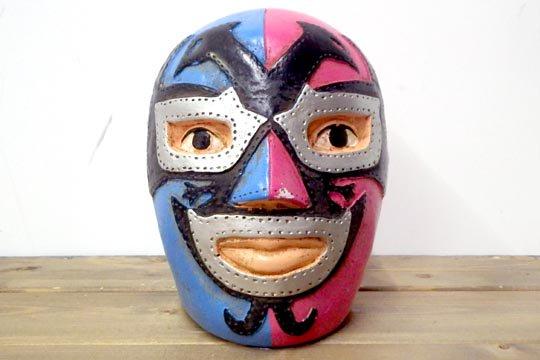 メキシコ プロレス ルチャリブレ マスク ビンテージ バンク 貯金箱 ドスカラス