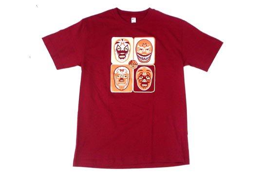 メキシコ プロレス ルチャリブレ マスカラス アート デザイン Tシャツ