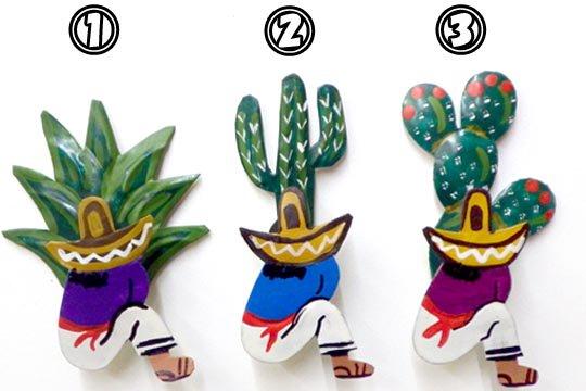メキシコ ブリキ マグネット サボテン カクタス シエスタ 磁石