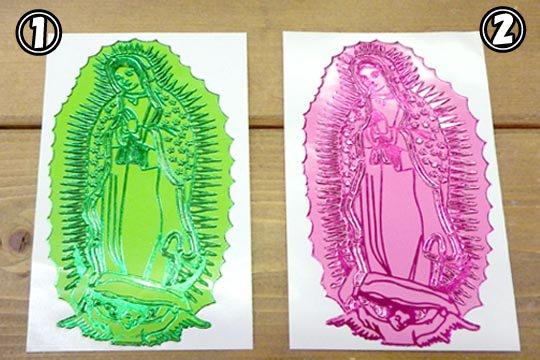 メキシコ マリア グアダルーペ キラキラ ステッカー シール 10�サイズ