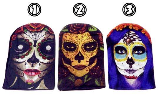 メキシコ 死者の日 デイ・オブ・ザ・デッド シュガースカル 骸骨 デザイン コスプレ フェイス マスク