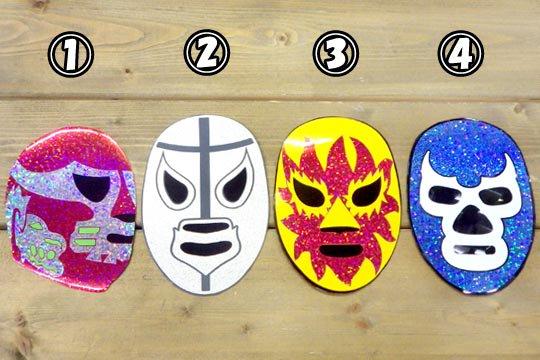 ルチャ・リブレ ルチャドール マスク デザイン キラキラ マグネット 磁石