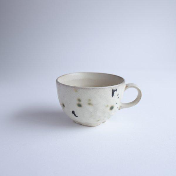 サビ織部 スープカップ