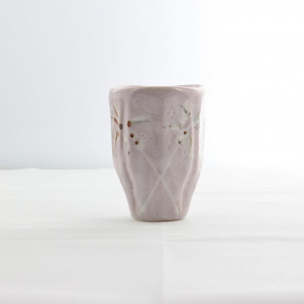 窯変フリーカップ草紋ピンク